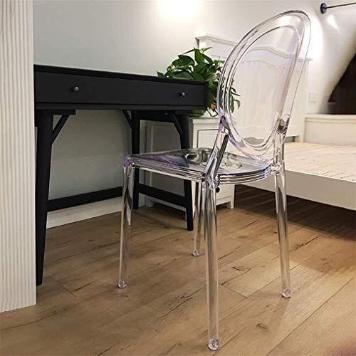 CHU N Transparente for Silla de Comedor, sillas de Cristal acrilico de la Manera Creativa nordica plastico Silla Mejor Inicio Jardin |Uso Interior y Exterior (Size : Clear)