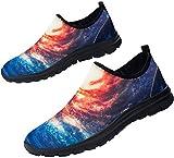 Fenlern Zapatillas de Seguridad Hombres Impermeable Secado rápido Zapatos de Trabajo con Punta de Acero Ultra Ligeras Transpirable Reflectante (Galaxia,42 EU)