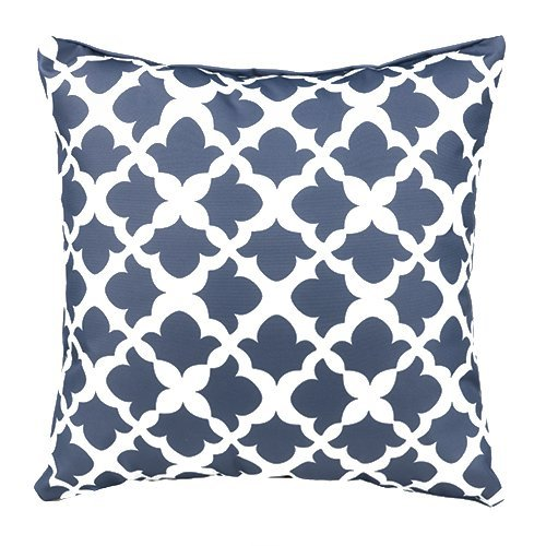 Gardenista Garden Outdoor Scatter Cushion | Patio Rattan Chair Furniture Arabesque Patterned Pillow | Water Resistant | Hypoallergenic Foam Crumb Filled (Charcoal)