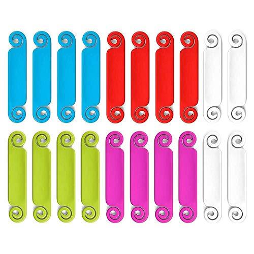Gaetooely Etiquetas de Cable de 20 Piezas Etiquetas de GestióN de Cables Etiquetas de Cables Multicolores Etiquetas de IdentificacióN de Cables para Cargador de TeléFono de Computadora USB