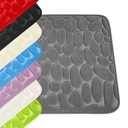 WohnDirect Badezimmerteppich mit Memory Foam - Rutschfester Badteppich - Badematte waschbar & schnelltrocknend auch ideal als Duschvorleger - Badvorleger 50 x 80 cm - Grün