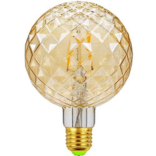 LED-Lampen Vintage Glühbirne φ95mm Sonderform Glas Edison-Lampe LED-Filament 4W 2500K Wärme Glow 220 / 240V E27 Dekorative Lampe (G95 Gold)