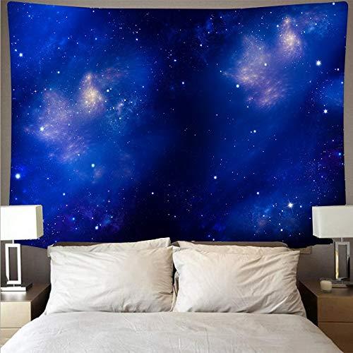 KHKJ Misterioso Universo Espacio Cielo Estrellado Gran Arte Tapiz psicodélico Colgante de Pared Toalla de Playa Manta A6 95x73cm