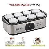 Warmex Home Appliances Glass Electric Yogurt Maker 20 Watts YM 99 with 8 Jars (Large, Black)