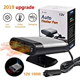 Eadidi Portable Car Heater, Auto Windshield Fast defroster defogger, 12V 150W Automobile Car Heater Fan Plug in Cigarette Lighter Best Gift for Winter