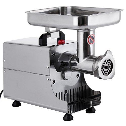 Moracle Picadora de Carne 250W Máquina de Picar Carne Picadora Automática Picadora Eléctrica para Uso Comercial o Doméstico del Picadora de Carne del Acero Inoxidable
