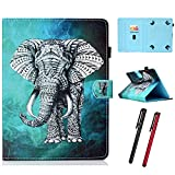 "Hious Hülle für 9-10.5"" Tablet PU Leder Tasche mit Kartenfach & Stift für iPad Air 1 2, iPad Pro 9.7/10.5, Samsung Galaxy Tab A6 10.1 T580/T585, Lenovo Tab3 10, Amazon Fire HD 10, Asus Zenpad Z300"