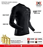 X-Bionic Invent 4.0 Running Shirt Long Sleeves Men Tee Sport Homme, Black/Charcoal, FR : M (Taille Fabricant : M)