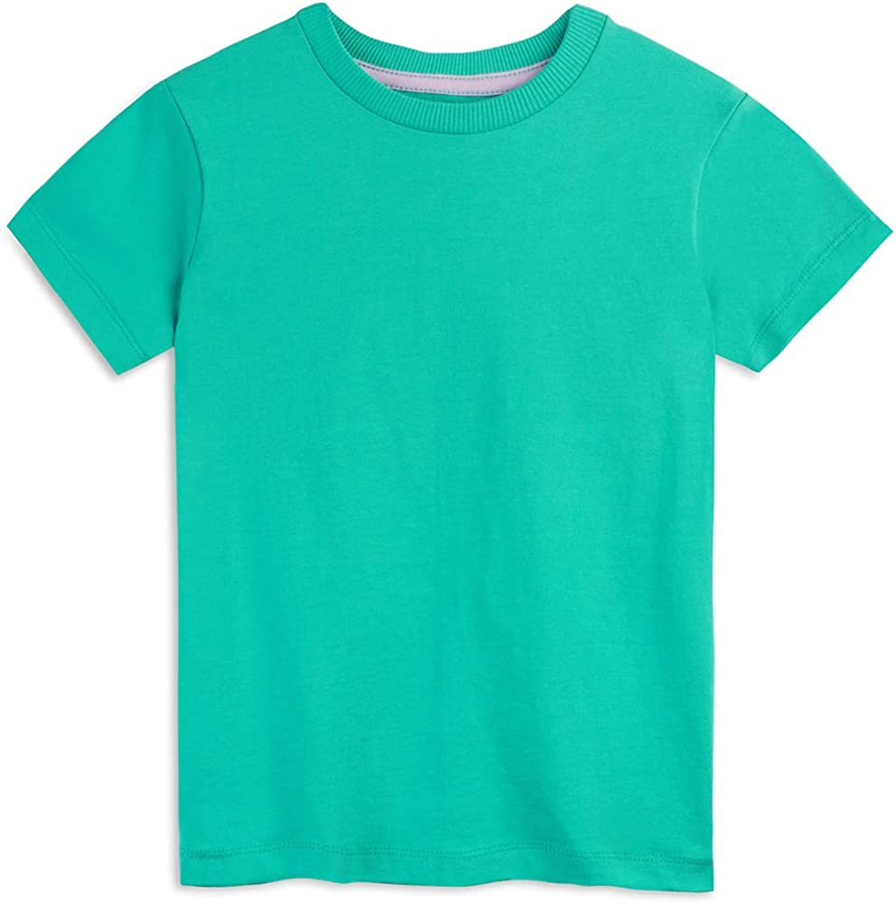 Mightly Girls T-Shirts Organic Cotton Fair Trade Certified 2-Pack Short Sleeved Crewneck Set for Toddlers and Kids