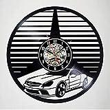 PRJC car Vinyl Record Wall Clock Modern Design Car Logo 3D Decoration Wall Sign Vinyl Clock Wall Watch Home Decor-E