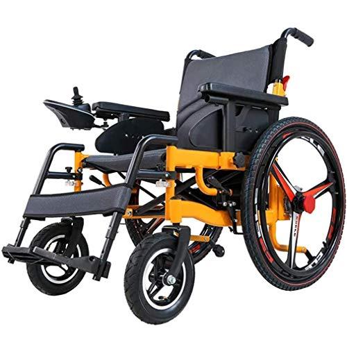 WMMY Elektrischer Rollstuhl Faltbar, Medizinischer Leichte Roller,Tragbare Ältere Behinderte Hilfe Auto mit Li-Ion Battery, Reichweite 18-25 km