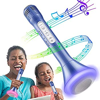 Tencoz Wireless Karaoke Microphone with Bluetooth Speaker