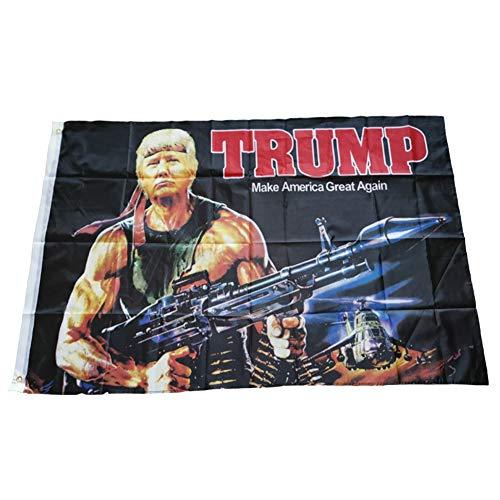gerFogoo Trump Flagge Raketenpistole Panzer Donald Trump Flags Unterstützung für Präsident 2020 Banner – Make America Great Rocket Launcher 91 x 152 cm