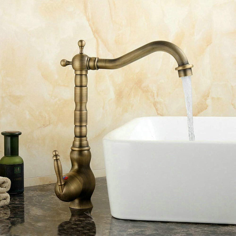 KUNHAN Küchenarmatur Wohnkultur Zubehr Antike Messing Küchenarmatur 360 Dreh Waschbecken Wasserhahn Kran