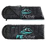 FE Active – Sacco a pelo 3-4 stagioni con cappuccio, lunghezza...