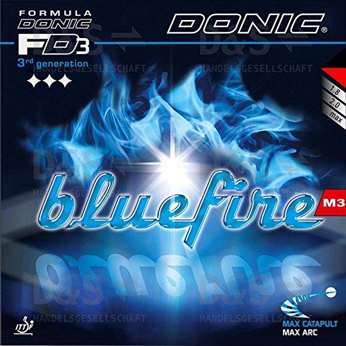 Tenis de mesa goma Donic Bluefire M3, 2.00mm), color rojo y negro