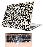 AOGGY Funda MacBook Air 13 Pulgadas 2020 2019 2018 Versión A2337 M1/A2179/A1932,Vistoso Plástico Cáscara Dura con Membrana de Teclado para 2020 MacBook Air 13 con Touch ID - Estampado de Leopardo 2