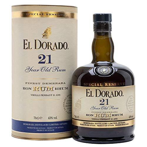 EL DORADO RUM 21 ANNI FINEST DEMERARA SPECIAL RESERVE 70 CL IN ASTUCCIO
