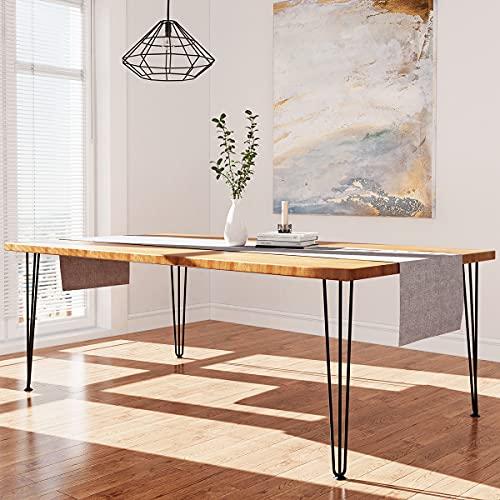 WINSOON Heavy Duty Hairpin Table Legs 28 Inch Set of 4 Black Metal Legs for Table Desk 1/2