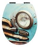 SITZPLATZ - 40368 9 - WC-Sitz -Dekor Cuba Taxi Matt - WC Brille mit Absenkautomatik - Toilettensitz...