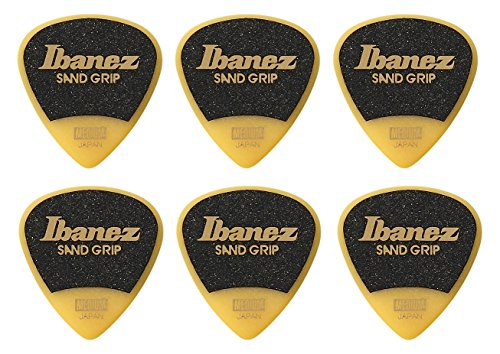 IBANEZ Grip Wizard Series Sand Grip Flat Pick - gelb 6 Stück (PPA16MSG-YE)