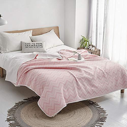 Deken Katoen Zomer Quilt Individueel Tweepersoonsbed Artikel Cover Mode Bed Cover Eenvoudige Lattice Airconditioning Quilt, 1 PC Cover gewogen deken 180x200cm 8