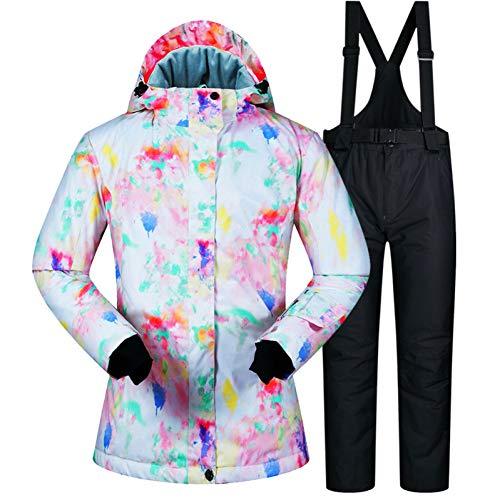 MQAIFEKS -30 ° C warm skipak vrouwen merk vrouwelijk ski-jack en broek warm waterdicht ademend ski- en snowboardpakken