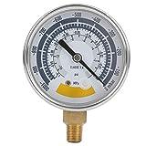 Manometro Accurato, Strumento Misuratore D'Aria, Vacuometro 0-14 Psi, Strumenti di Misurazione industriali, Connettore G1 / 4 Pollici per Pompa A Vuoto