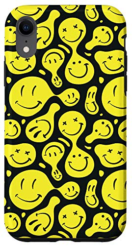 iPhone XR Trippy Psychedelic Smiley Face Emoji Phone Case