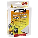VITAKRAFT 512071 7-Pack Super Absorbent Cage Liners for Birds, 20' X 18'