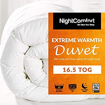 Night Comfort EXTREME Warm 16.5 Tog Duvet - Winter Quilt Single Double King Size Super King