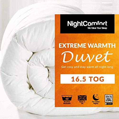 Night Comfort Feels Like Down EXTREME Warm Anti Allergy 16.5 Tog Winter Warm Ultra Snuggle Duvet Quilt (Single)