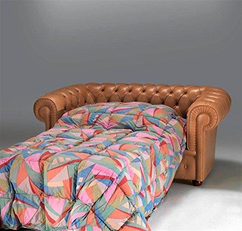 Sofá cama 3plazas asiento cama matrimonio Chesterfield de piel envejecida cm sofá cm 220x 90h 72. Red cm 162x 185. Colchón 142x 185H cm 7Elige il Tuo Color preferito