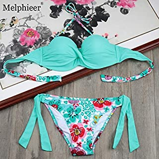 BEESCLOVER Beachwear Push Up Bra Bikinis Biquini Plus Size Swimwear Women Bikini Set Bathing Suit Pads Underwire Swimsuits