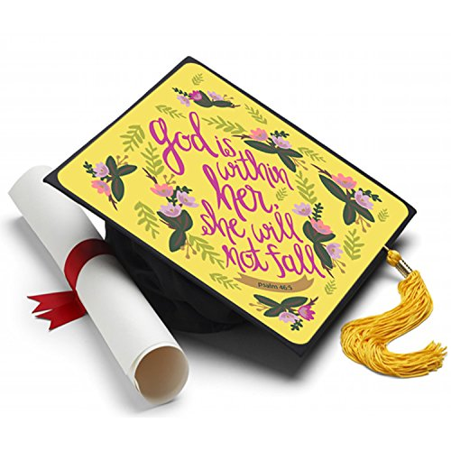 Psalm 46:5 Graduation Cap Tassel Topper
