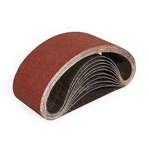 Sruhrak Nastri Abrasivi 100 x 610 mm - Grane 80 Carta Abrasiva per Levigatrice a Nastro, per Levigare,Limare,Affilare e Rimuovere Metallo/Legno (12 Pezzi)