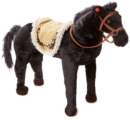Happy People 58401 Paard met geluid, staand, draagkracht ca. 100 kg, zwart