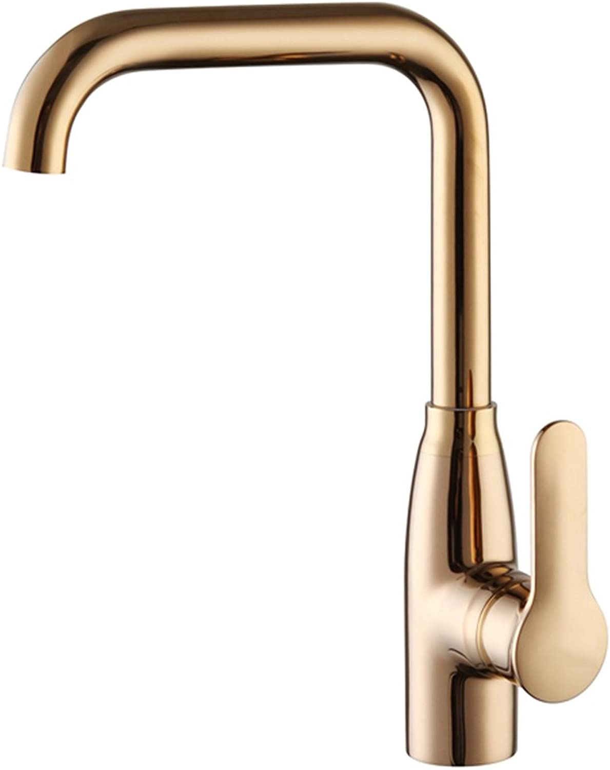 FJH Faucet Copper Hot and Cold redating Single Hole Kitchen Sink Dishwashing Aperture 32MM to 40MM Can Be Installed