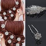 Paradise Hair Pins For Women/Bridal Hair Accessories For Women And Girls/Juda Pins For Women (Silver 12 pc)
