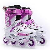 QJM Men Roller Skates Online for Adults and Women Professional Roller Skates Single Row Roller Skate (Color: C, Size: 41)