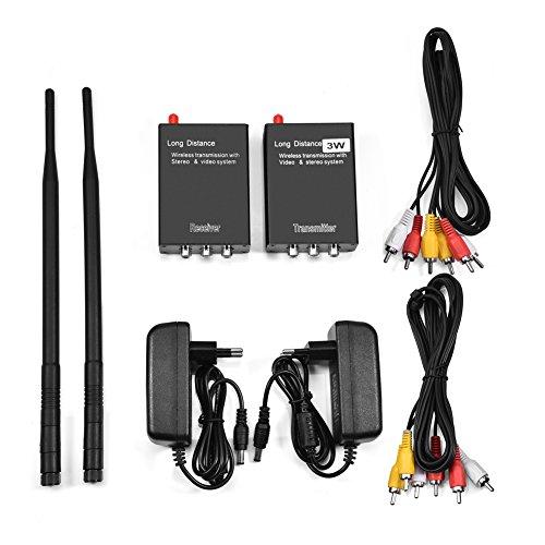 Vbestlife Adaptador de Audio de Audio Inalámbrico Hi-Fi de 2.4GHz Transmisor Receptor AV de Alta Definición para Sistema de Cine en Casa(Negro)
