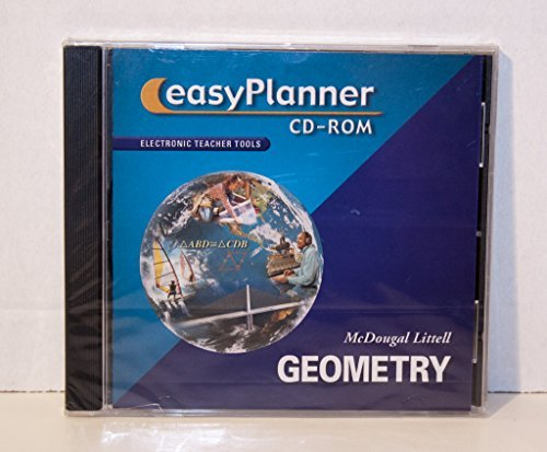 McDougal Littell Geometry, Easy Planner (Teacher's Edition and Resources) CD-ROM