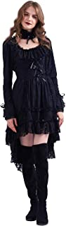 Women's Steampunk Showgirl Cancan Costume Dress with Choker