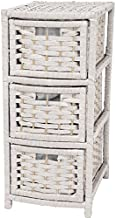 Oriental Furniture 25 Natural Fiber Occasional Chest of Drawers - White