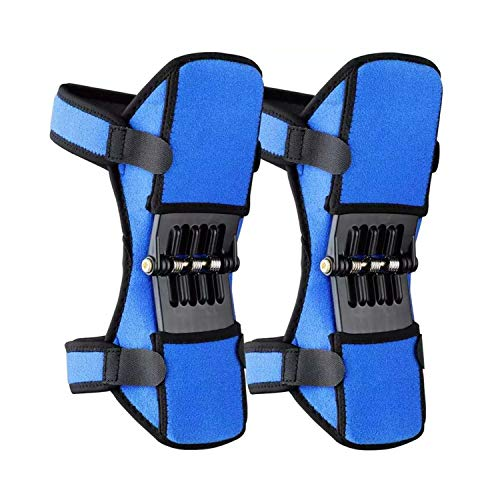 Joint Support Knee Pads [Upgraded], Power Lift Knee Stabilizer Pads, Powerful Rebound Spring Force Knee Protection Booster, Breathable Non-Slip Joint Knee Support Brace for Sports, Squat, Blue