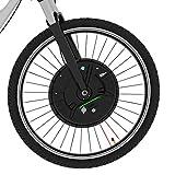 Imortorオールインワンフロントホイール電動自転車変換キット36V 350WでバッテリーUSB電話ホルダーで (Color : V wire control, Size : 700C)