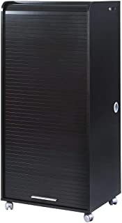 SIMMOB Armoire Informatique Mobile Noire 2 Tiroirs-Coloris, Bois