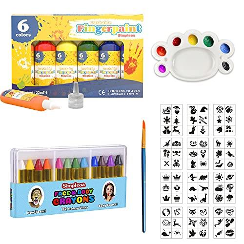 Pinturas para dedos para niños, pintura no tóxica y bombas de baño,...