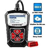 Die besten OBD2 Scanner - KONNWEI KW310 OBD2 Diagnosegerät Universal Auto Diagnosegerät Automotor Bewertungen
