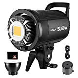 GODOX SL-60W LED Luz Video 60W Foco Led 5600K Gran Potencia Bowens Mount para fotográfico Estudio Video Youtube Video Foto Studio(SL 60W LED Light)